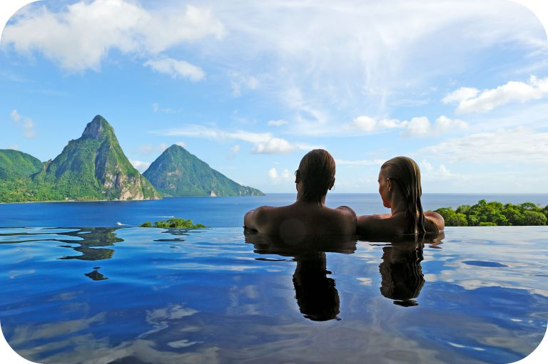 Dip in infinity pools of Seychelles