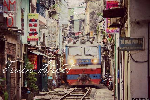 Train street in Vietnam